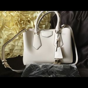 DKNY Sullivan Triple Compartment Satchel Ivory